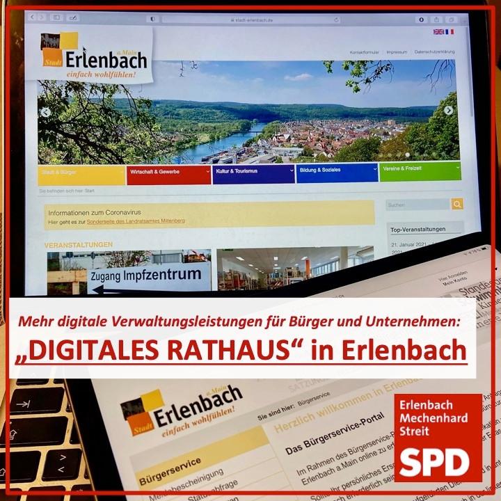 Wir wollen das Online-Serviceportal in Erlenbach ausbauen und mehr Verwaltungsleistungen digital anbieten.